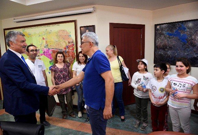 Kardeş Okullardan Başkan Karalar'a Ziyaret