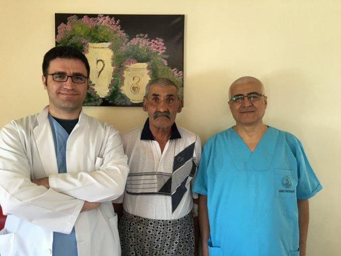 Kırşehir'de ilk defa laparoskopik yöntemle kanser ameliyatı yapıldı