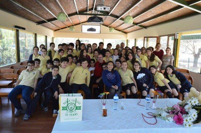Başak Koleji, Ayı Yogi'ye Hayat Veren Nazif Uslu'yu Ağırladı