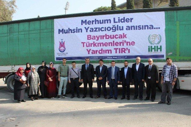 Türkmenlere Yazıcıoğlu Anısına Yardım Tır'ı
