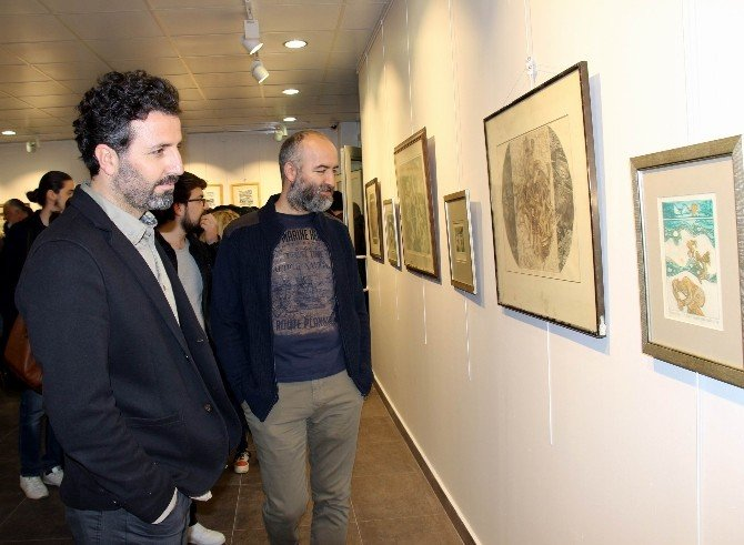 Ahmet Aydın Kaptan'dan Gravür Resim Sergisi