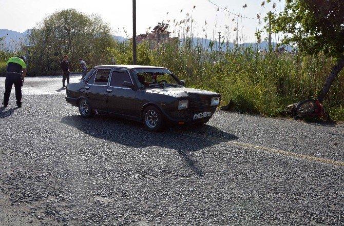Ortaca'da Otomobille, Motosiklet Çarpıştı; 1 Yaralı