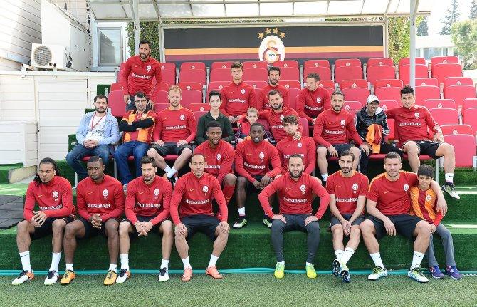 Florya'daki Galatasaray antrenmanında anlamlı buluşma
