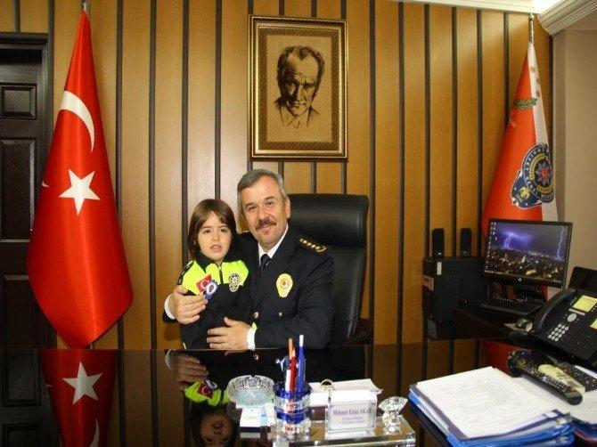 Anaokulu Öğrencilerinden Emniyet Müdürü Akay'a Ziyaret