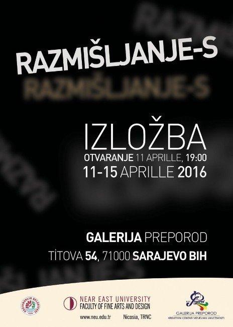 Yakın Doğu Üniversitesi Sergisi İzdüşüm-s Saraybosna'da