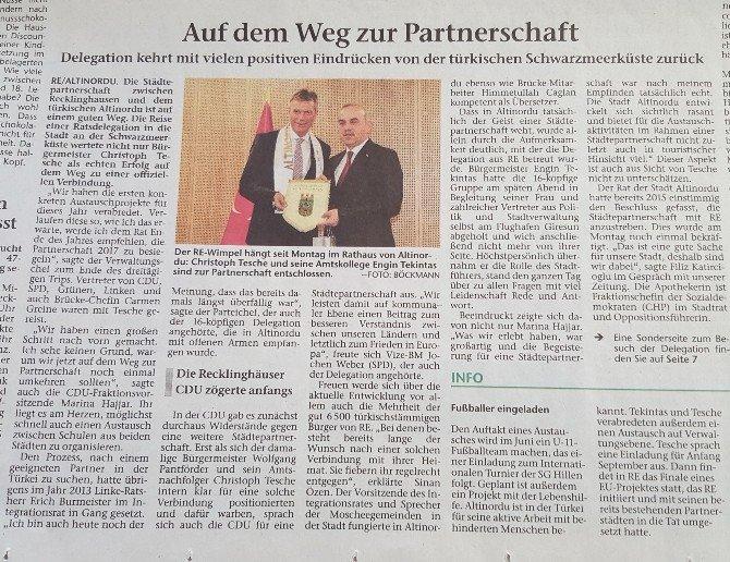 Altınordu, Alman Basınında