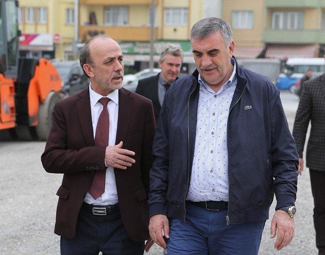 Başkan Toçoğlu Evliya Çelebi Caddesi'ndeki Çalışmaları İnceledi