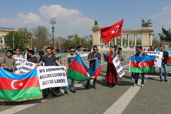 Ermenistan Budapeşte'de Protesto Edildi