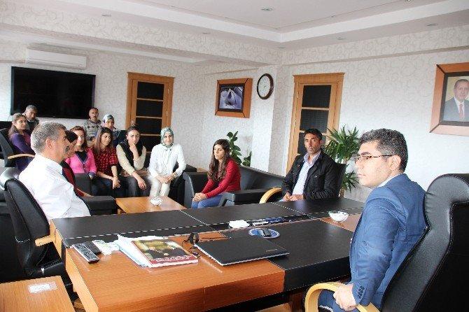 İş-kur Çalışanlarından Kaymakam Çetin'e Ziyaret