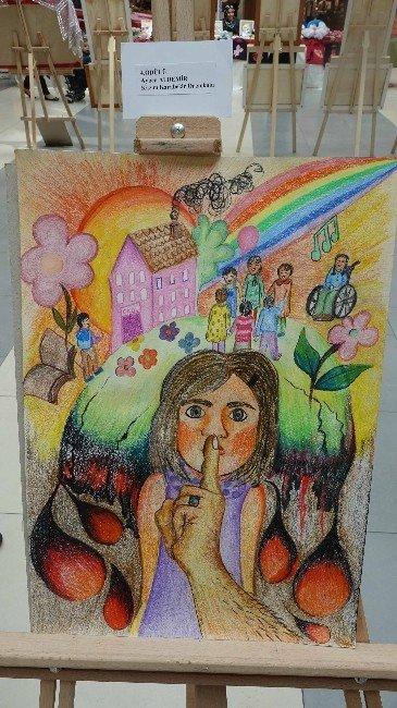 Çocuk Hakları Resim Sergisi Açıldı