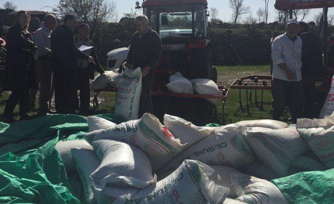 Havza'da çiftçilere nohut tohumu dağıtıldı