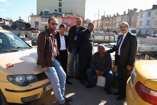 SESOB Başkanı Köksal, Kangal'da Taksicilerin Sorunlarını Dinledi