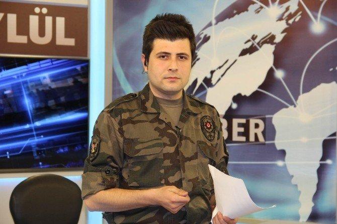 Haber Bültenini Özel Harekat Polisi Üniformasıyla Sundu