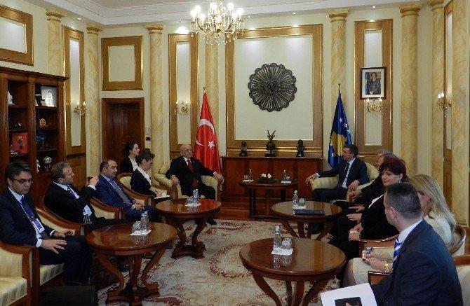 TBMM Başkanı Kahraman, Kosovalı Mevkidaşı Veseli'yle Görüştü