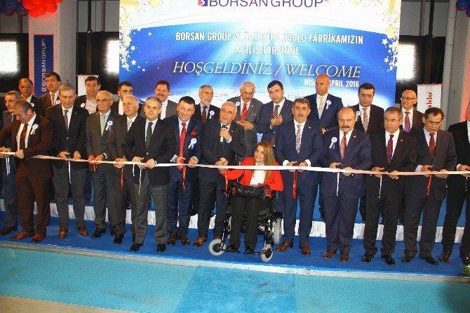 Borsan Alüminyum Kablo'nun Açılışını 2 Bakan Birlikte Yaptı