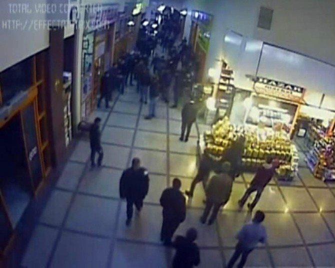 Otogardaki Silahlı Kavga Anı Güvenlik Kamerasında