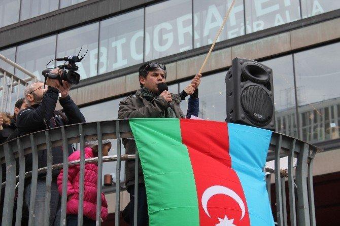Stockholm'de, Azerbaycan'a Destek