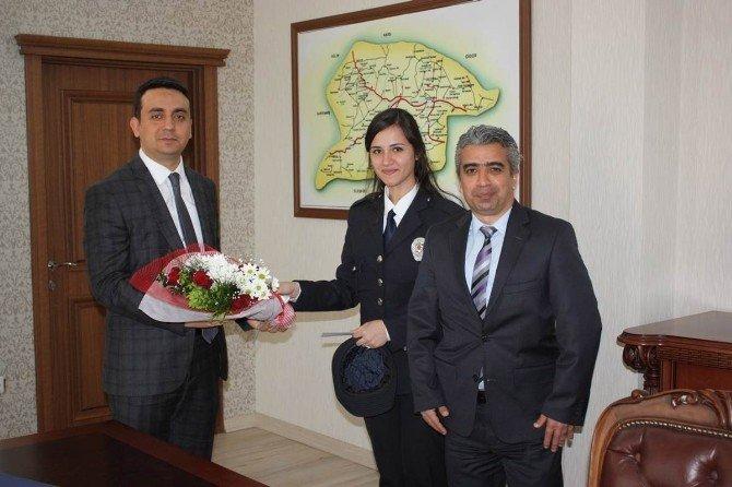 """Kaymakam Musa Üçgül'e """"Polis Haftası"""" Ziyareti"""