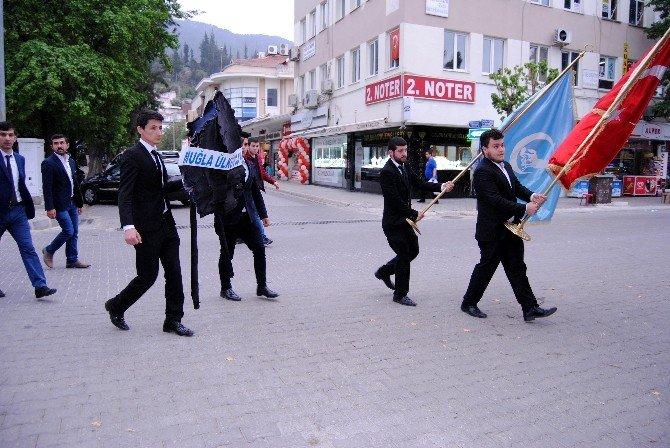 Ülkücülerden Fethiye Belediyesi'ne Siyah Çelenk