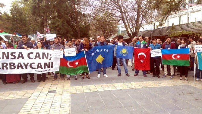 Turan Derneği'nden 'Kansa Kan Cansa Can Yanındayız Azerbaycan' Etkinliği
