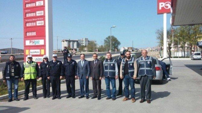 Malkara Kaymakamı Osman Altın, Polis Ve Jandarma Uygulamasını İzledi