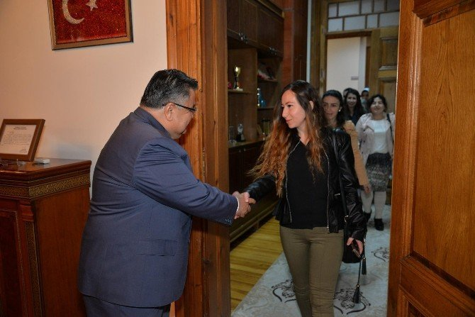 Aday Öğretmenlerden Belediye Başkanı Yağcı'ya Ziyaret