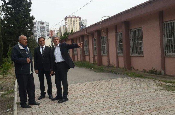 Milli Eğitim Müdürü Akpınar Okul İnşaatlarını Denetledi