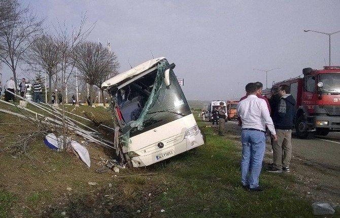 Başkent'te Tur Otobüsü Şarampole Uçtu: 1 Ölü, 15 Yaralı