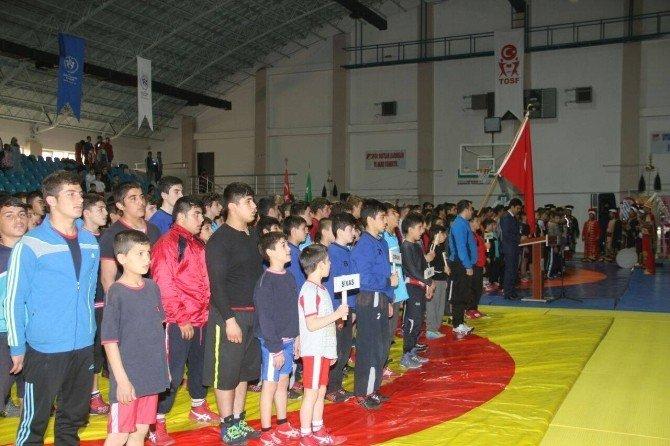 Erzincan'da Güreş Müsabakaları Başladı