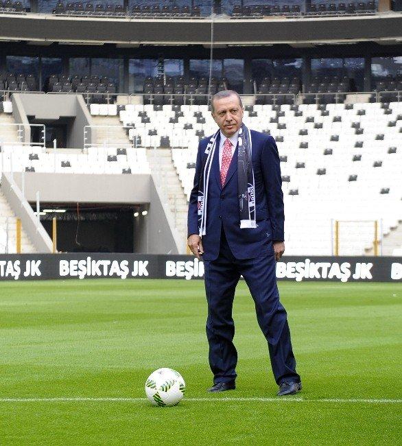 Vodafone Arena'da İlk Santra Cumhurbaşkanı Erdoğan'dan