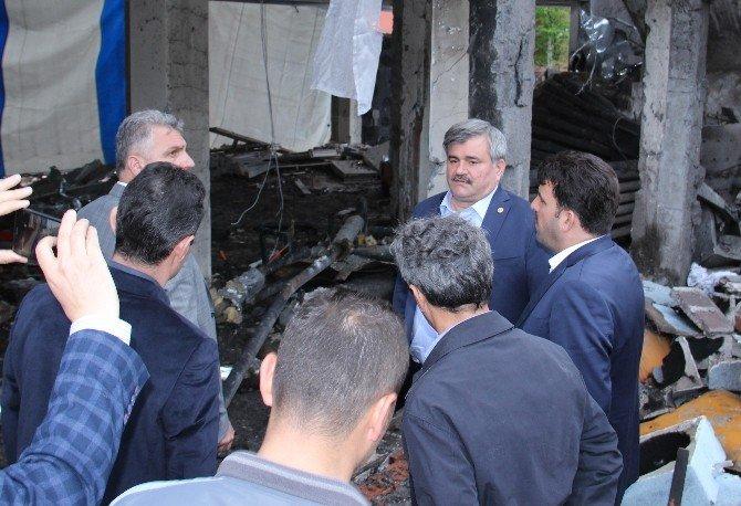 Milletvekili Çaturoğlu Patlama Yaşanan Okulu İnceledi