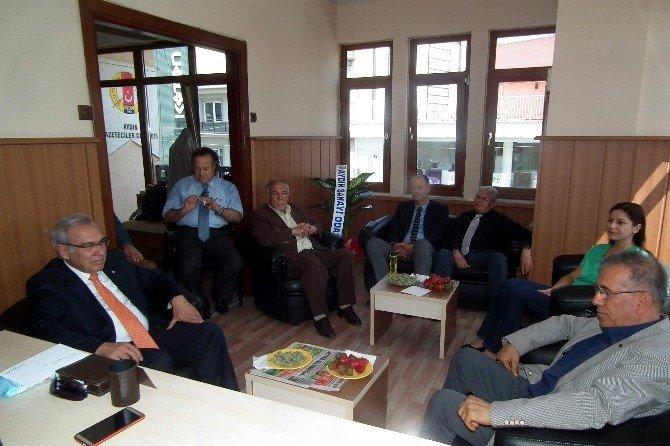 Ayso Başkanı Şahin, Agc Başkanı Şener'i Ziyaret Etti