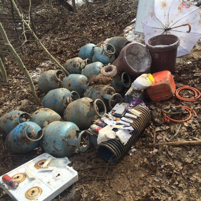 Muş'taki tatbikatta, patlayıcı yapımında kullanılan tüpler ele geçirildi