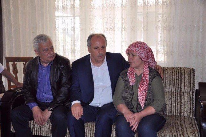 CHP'li İnce'den Şehit Ailelerine Taziye Ziyareti