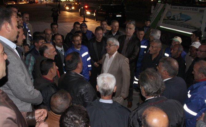 Başkan Karaçanta işçileriyle yemek yedi