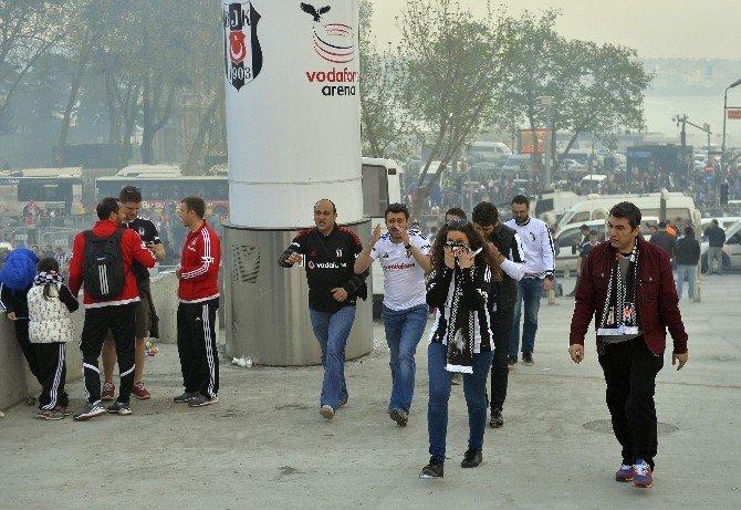 Beşiktaş Maçı Öncesi Biber Gazı Ve TOMA İle Müdahale