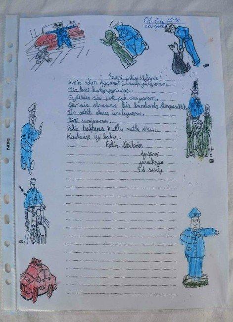 Köy Okulu Öğrencilerinden Polise Anlamlı Mektup