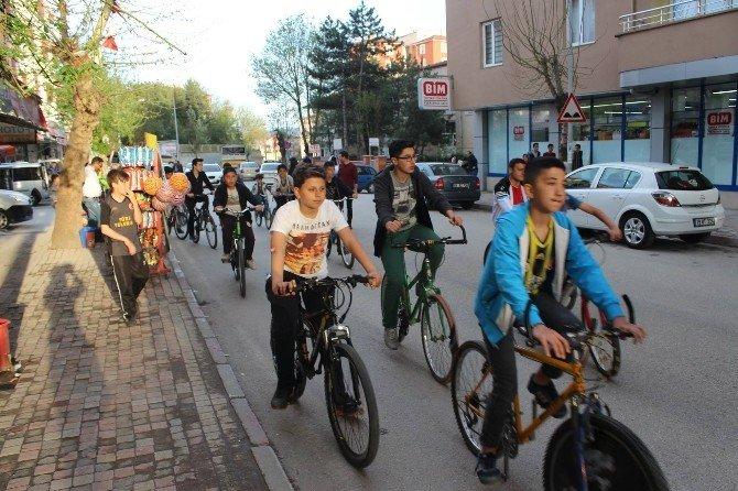 Sungurlu'da Sağlıklı Yaşam İçin Pedal Çevirdiler