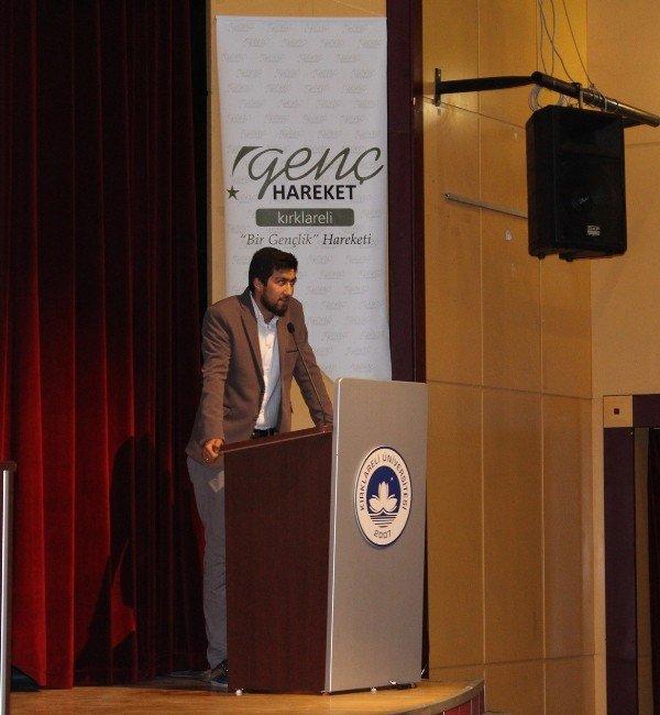 """Kırklareli'nde """"Ümmetin Şam-ı Şerif İle İmtihanı"""" Konferansı"""