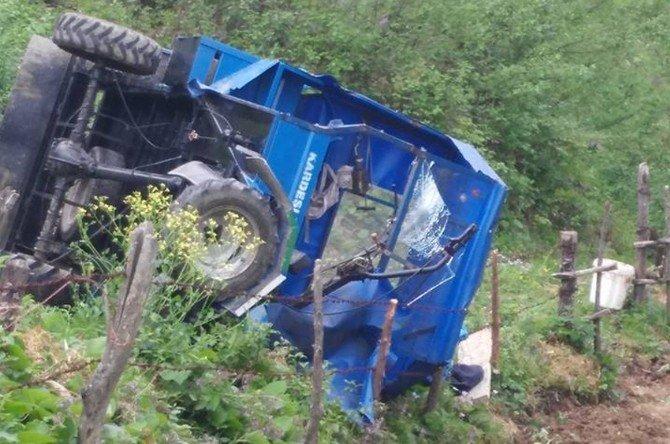 Tarım Aracının Altında Kalan Bir Kişi Ağır Yaralandı