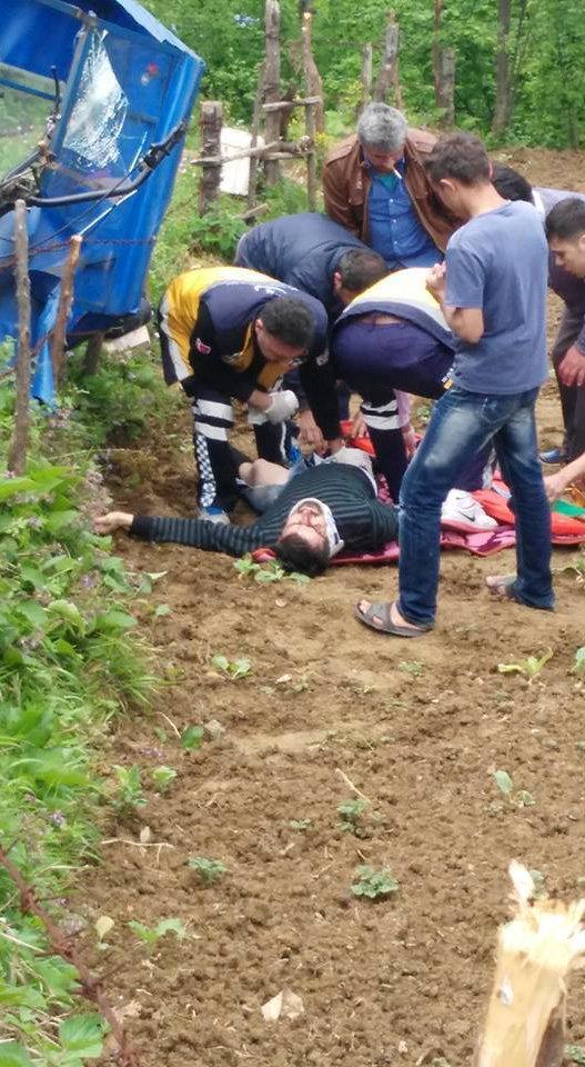Pat-pat kazasında 1 kişi ağır yaralandı