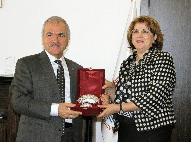 Azerbaycan Eğitim Müşavirinden Rektör Harmandar'a Ziyaret