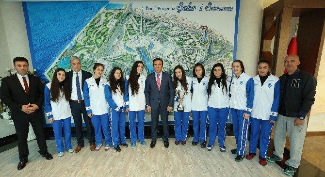 Başkan Genç'e Sporcu Misafir