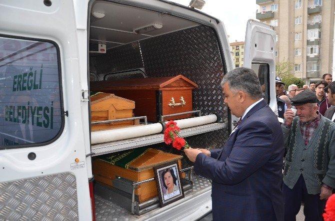 Kazada Annesiyle Birlikte Ölen Ereğli Belediyesi Çalışanı İçin Tören