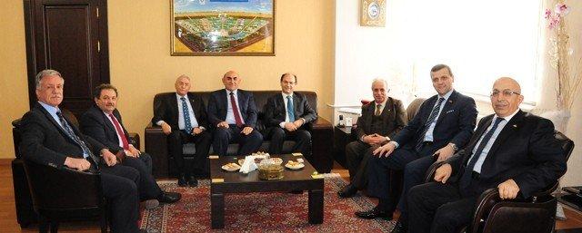 YÖK Üyesi Prof. Dr. Rahmi Er Ve Rektörlerden ATÜ'ye Ziyaret