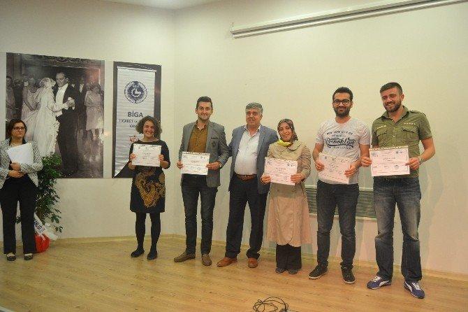 Bigalı Girişimci Adaylarına Sertifikaları Törenle Verildi