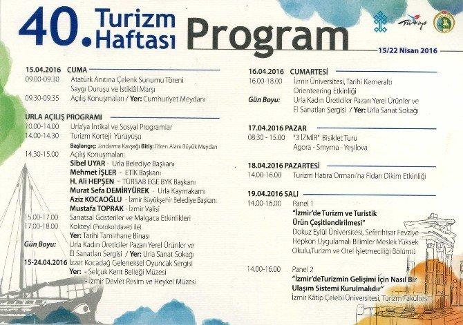 Turizm Haftası Urla'da Kutlanacak