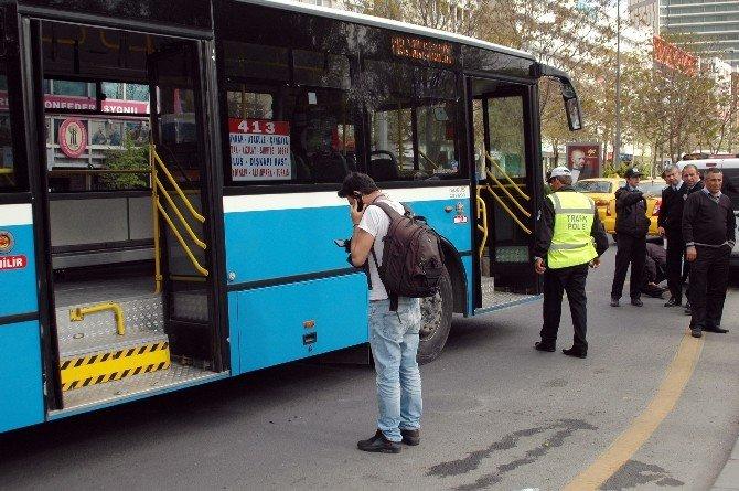 Otobüsün Altında Kalan Kadın Ağır Yaralandı
