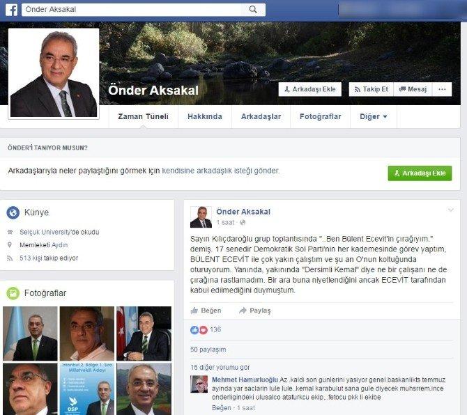 DSP Genel Başkanı Aksakal: Ecevit'in Yanında Dersimli Kemal'e Rastlamadım
