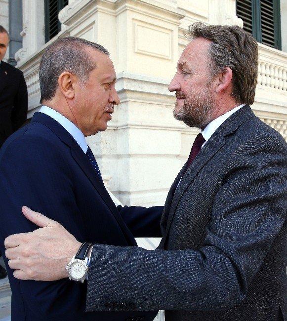 Cumhurbaşkanı Erdoğan, Bosna-hersek Devlet Başkanlığı Konseyi Başkanını Kabul Etti